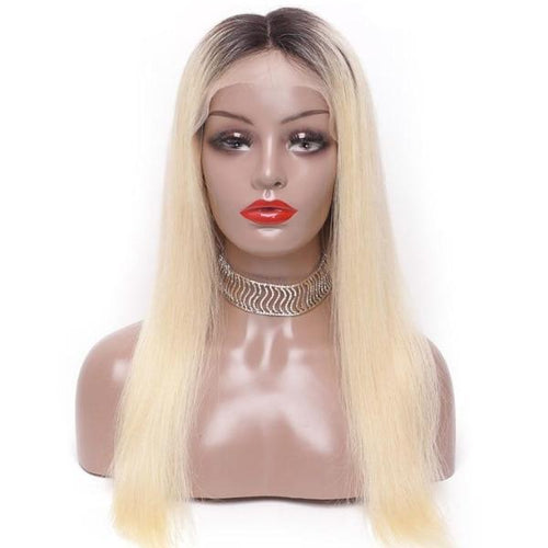 Darling (Silky Straight Blonde Ombre Roots 1B/613 13x4 LF 100% Remy Human Hair Wig 8