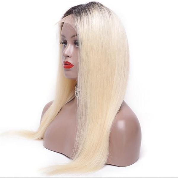 Dare 150% Density (Silky Straight Blonde Ombre Roots 1B/613 13x4 LF 100% Remy Human Hair Wig 8