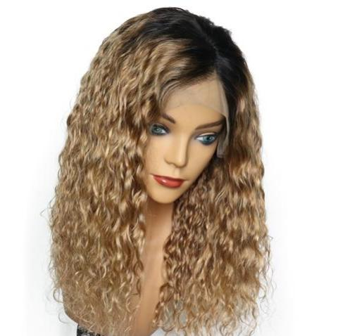Mami (Blonde Ombre1B/27 Curly Wavy 13x4 LF 100% Remy Human Hair Wig 8