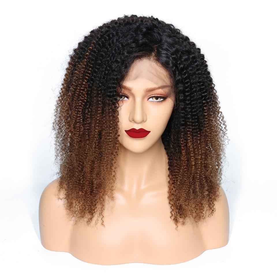 Kissie (Kinky Curly Ombre Tipped Honey Auburn 13x4 LF 100% Remy Human Hair Wig 8