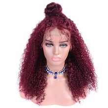 Red Ginger (99J Burgundy Curly 13x4 LF 100% Remy HH Wig, Diff Densities Avail.)