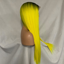 Sunny (Ombre Rooted Yellow Silky Straight Synthetic Heat Safe 13x6 LF Long Wig)