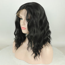 Mada (Natural Black Body Wave Synthetic Heat Safe 13x6 LF Lob Wig, 180% Density)
