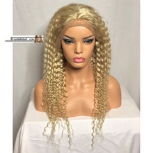 "WW Blondie (613 Deep Wave 13x6 LF 100% Remy Human Hair Wig, 20"",  150% Density)"