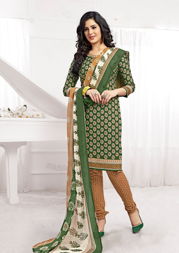 Glorious Green Salwar Material