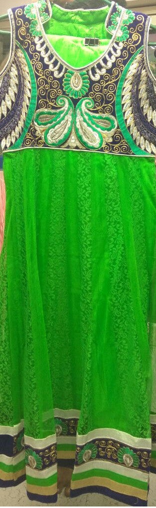 Gorgeous Green Readymade Anarkali Suit