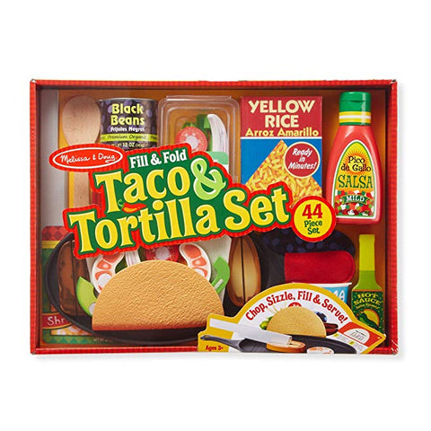 Fill and fold taco an tortilla set