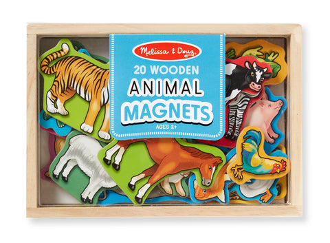 WOODEN ANIMAL MAGNETS by Melissa and Doug