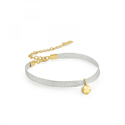 RIPPLE RIBBON BRACELET GOLD ANIA HAIE