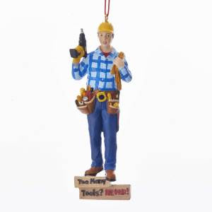 "5"" HANDYMAN ""TOO MANY TOOLS"" ORNAMENT"