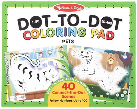 Dot-To-Dot Coloring Pad- PETS by Melissa and Doug