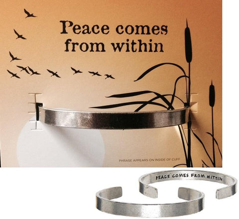 PEACE COMES FROM WITHIN - QUOTABLE CUFFS