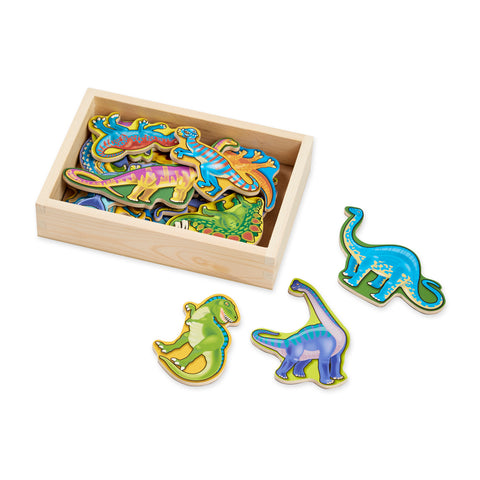 WOODEN DINSAUR MAGNETS