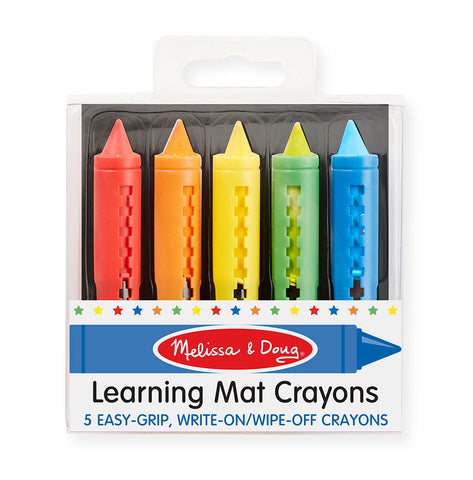 LEARNING MAT Crayons (5 COLORS) by Melissa and Doug