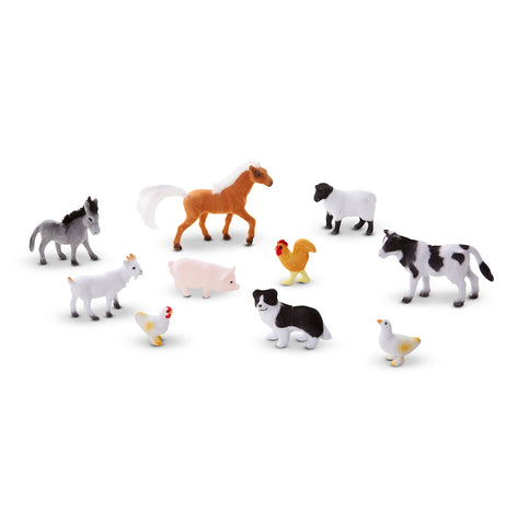 FARM FRIENDS- 10 Collectible Farm Animals by Melissa and Doug