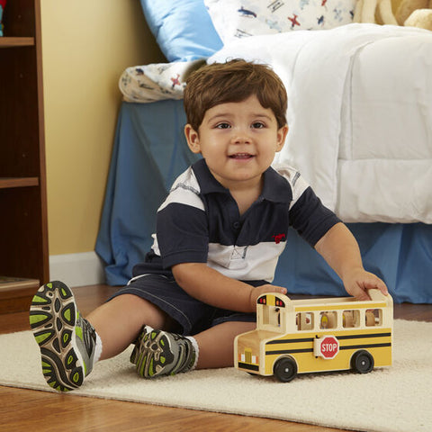 WOODEN Classic SCHOOL BUS Activity Play Set by Melissa and Doug