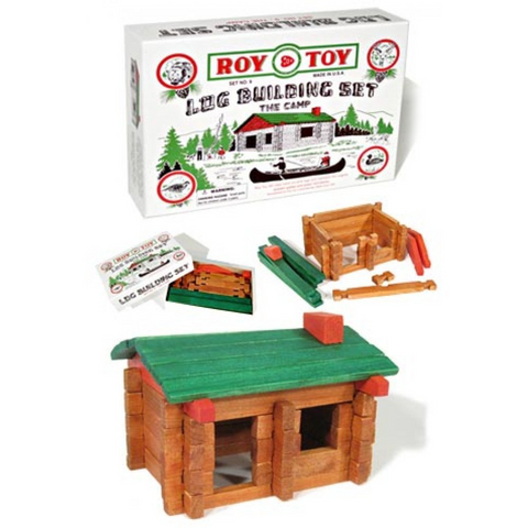 ROY TOY LOG CABIN PLAYSET
