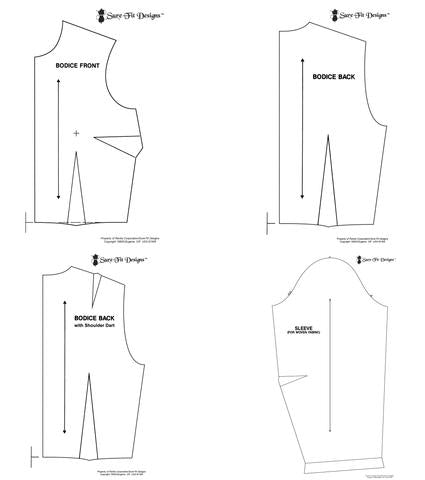 Half Scale Templates -Bodice back