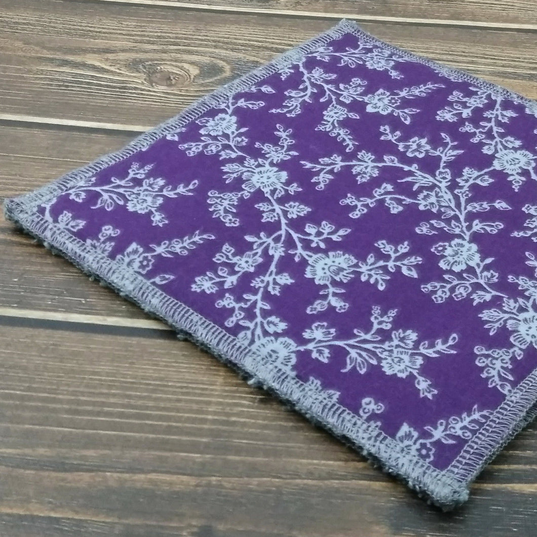 Purple & Gray Floral Dishcloths - Nature Junkie