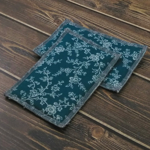 Teal & Gray Floral Unsponges - Nature Junkie