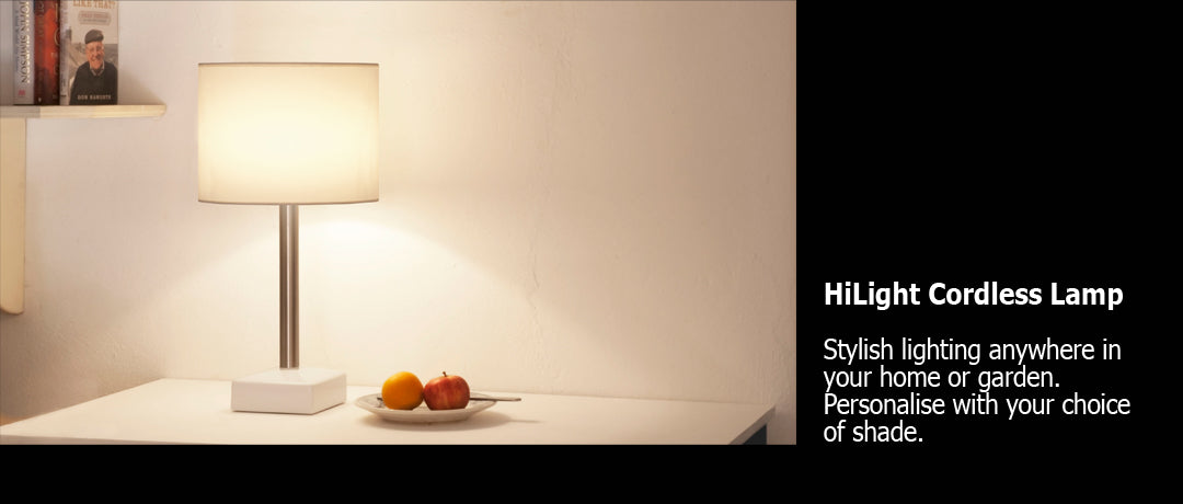 HiLight cordless lamp fruit bowl