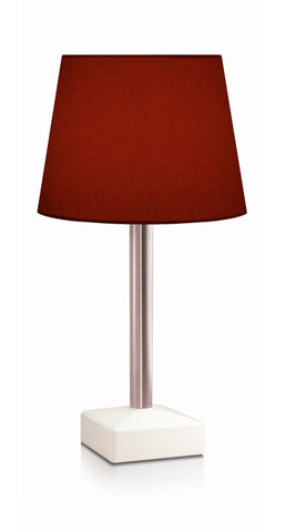 HiLight Stainless Steel Stem Conical Shade Burgundy 25cm
