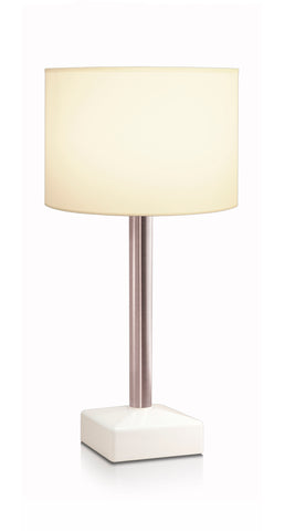 HiLight Stainless Stem Pale Beige Drum Shade 28cm