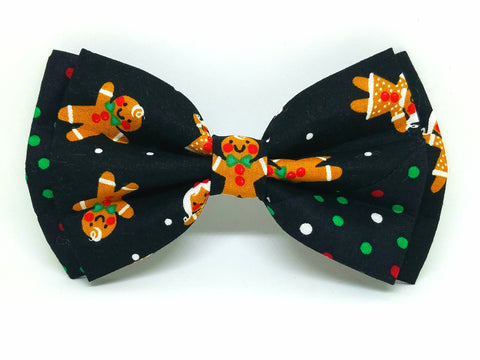 Gingerbread Dots Bowtie