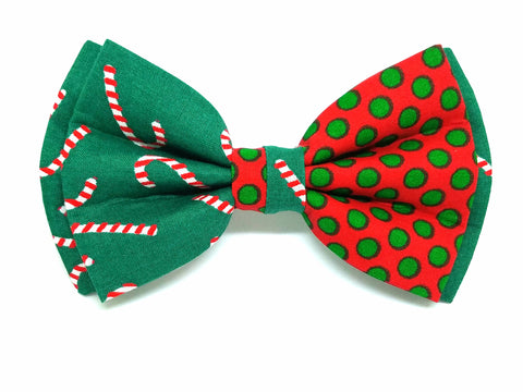Candy Cane Polka Dot Window Bowtie