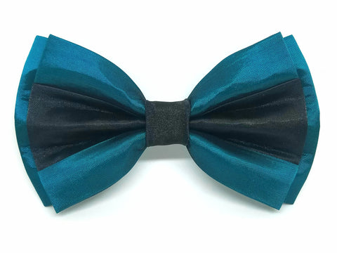 Teal and Black Split Bowtie