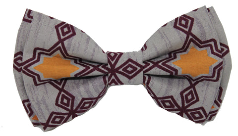 Grey Indian Tribal Bow Tie