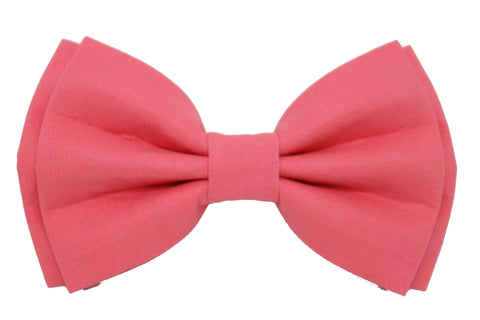 Pink Solid Mne's Bow Tie
