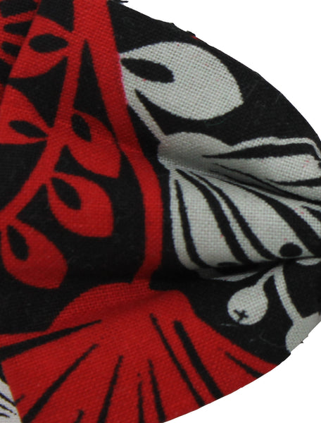 Red, Black and White Cotton Bow
