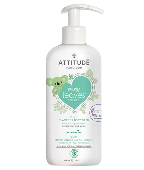Shampoo & gel de baño natural -Baby Leaves Sweet Apple 473ml