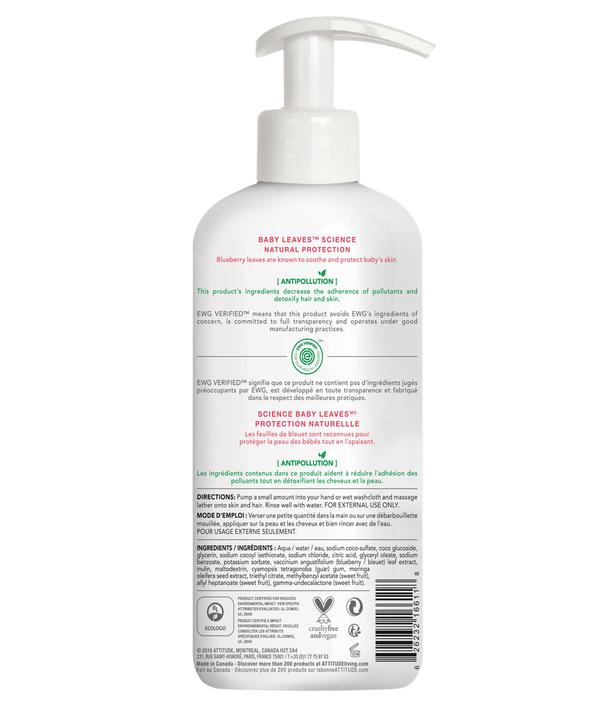 Shampoo & gel de baño natural -Baby Leaves Orange Pomegranate 473ml