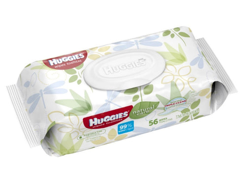Huggies Natural Care Wipes 56 unidades