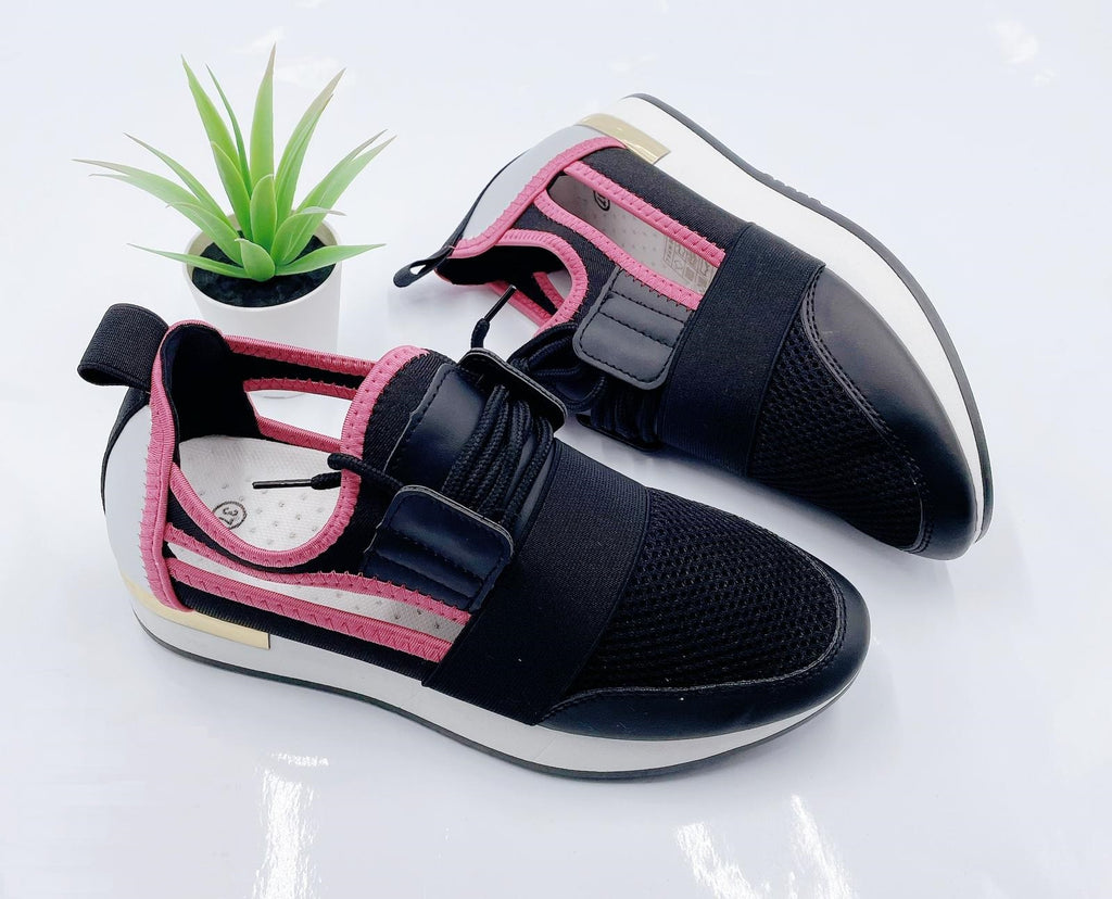 The Runners Black/Pink - Kookuu Kouture