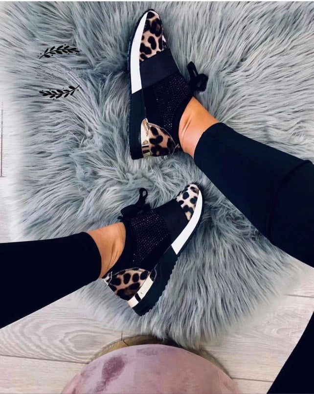 The Runners Leopard Diamante - Kookuu Kouture