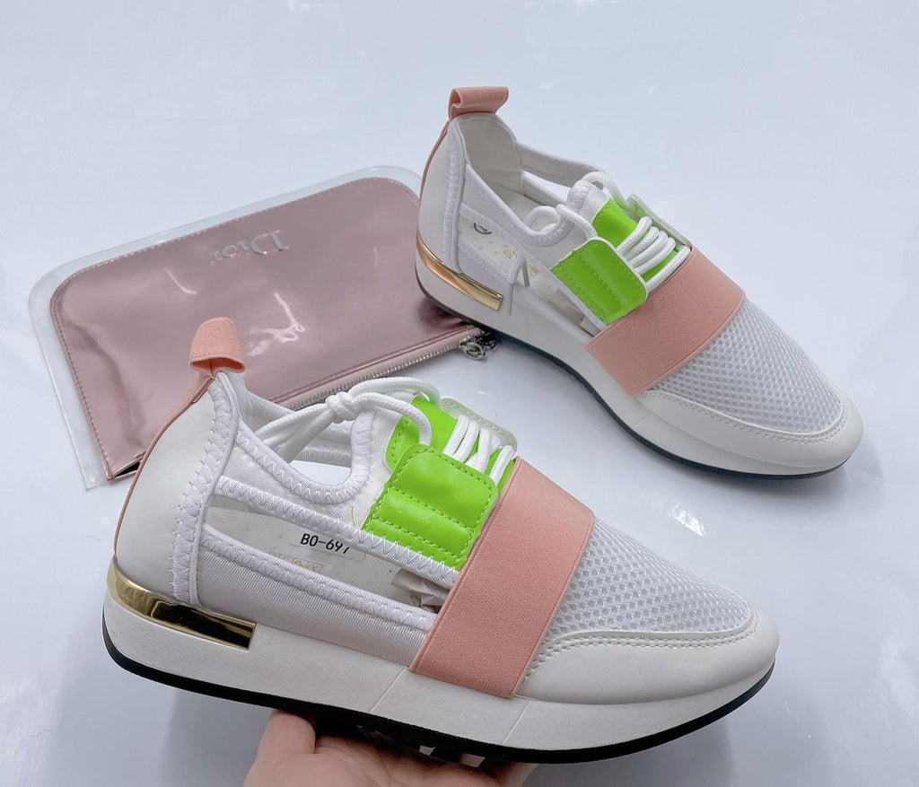The Runners White/Pink - Kookuu Kouture
