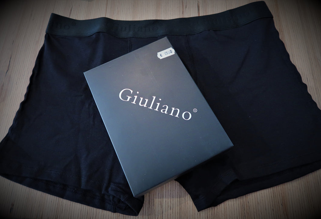 Boxer short de marque Giuliano noir - Super qualité! Made in Italy
