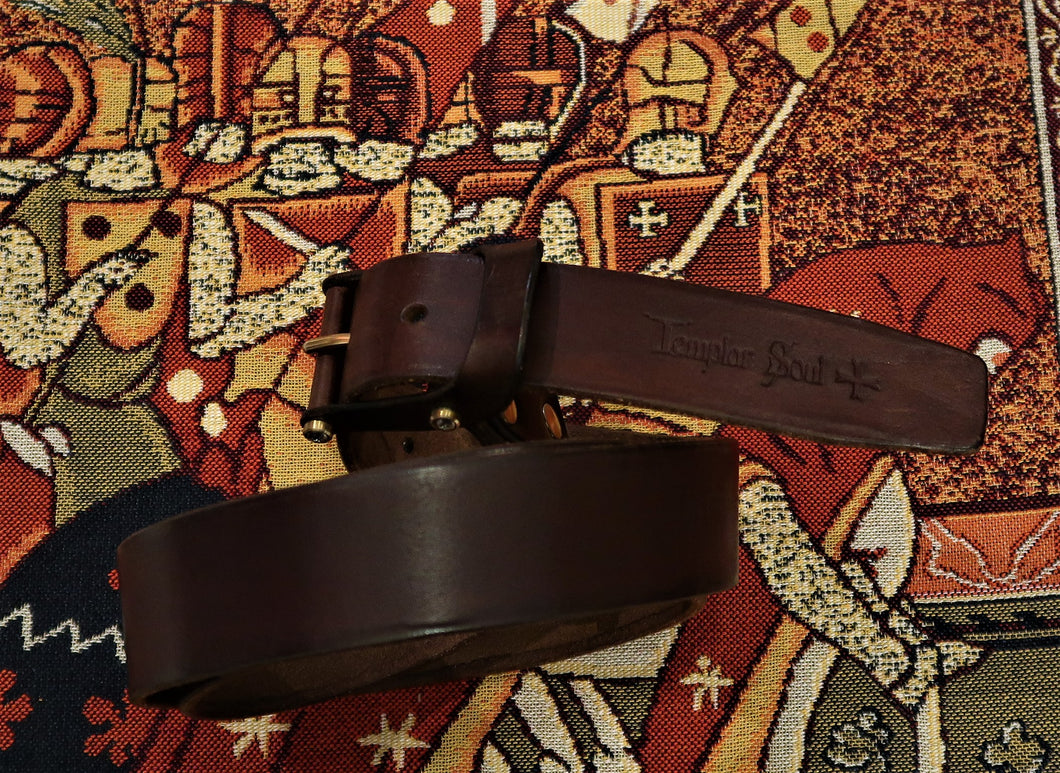 Ceinture d'artisan de talent en cuir naturel - Made in France