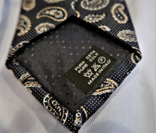 Cravate 100% soie motif Paisley (Ecosse) - Made in Italy