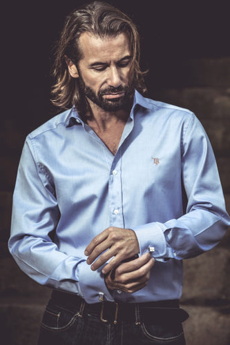 Chemise Business Made in France - Oxford bleu