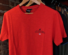 "NEW - T-shirt 100% coton ""US GRAND POLO APPAREL"" / Rouge chiné"
