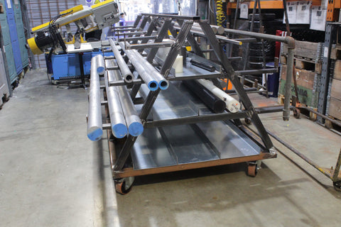 Raw Material Storage Trolley - Made to order In The UK
