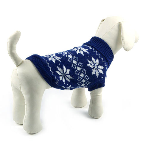 Dog Snowflake Style, Sweater Clothes Knitwear Coat.