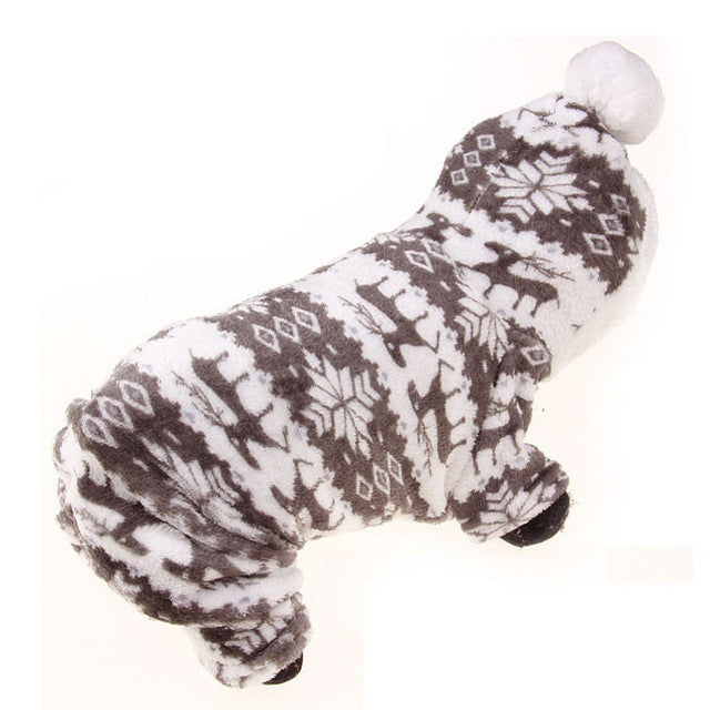 Soft Pet Dog Clothes Hoodie Dog Costume Winter Clothing For Small