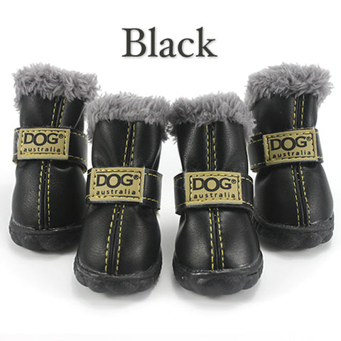Winter Pet Dog Shoes Waterproof 4Pcs/Set Small Big Dog's Boots Cotton Non Slip XS XL for Dogs.