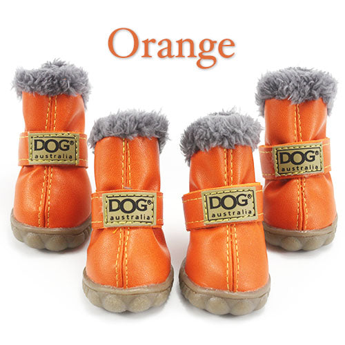 8133296ab8 ... Winter Pet Dog Shoes Waterproof 4Pcs Set Small Big Dog s Boots Cotton  Non Slip XS ...
