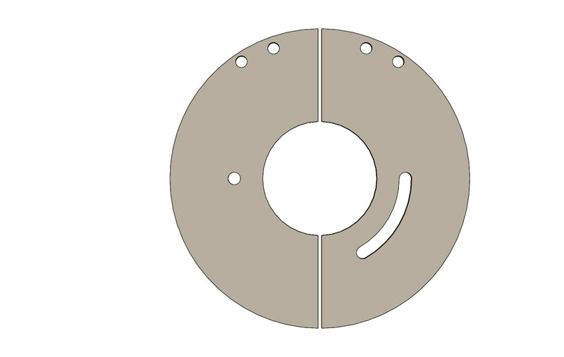 C00829 - Cam Disc Split item A and B - King CF100 Spare Parts